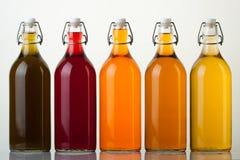 Bottiglie di vetro immagini stock