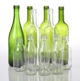 Bottiglie di vetro Fotografie Stock Libere da Diritti