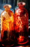 Bottiglie di vetro Fotografia Stock Libera da Diritti