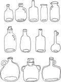 Bottiglie di vetro Fotografia Stock
