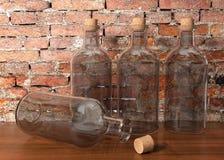 Bottiglie di vetro Immagine Stock