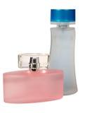 Bottiglie di vetro di profumo Fotografie Stock