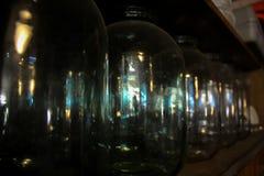 bottiglie di vetro di Tre-litro Immagine Stock