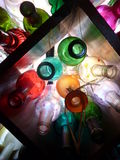 Bottiglie di vetro graziose Fotografia Stock