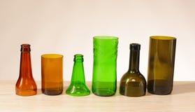 Bottiglie di vetro riciclate Immagine Stock Libera da Diritti