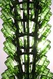 Bottiglie di vetro verdi Fotografie Stock Libere da Diritti