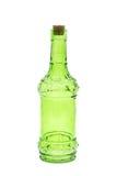 Bottiglie di vetro verdi isolate Immagine Stock