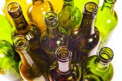 Bottiglie di vetro vuote Fotografie Stock