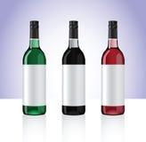 Bottiglie di vino illustrazione di stock