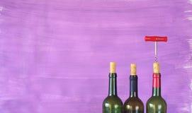 Bottiglie di vino, Fotografie Stock Libere da Diritti