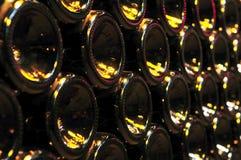 Bottiglie di vino Fotografia Stock