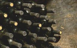 Bottiglie di vino d'annata Immagine Stock Libera da Diritti