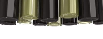 Bottiglie di vino d'attaccatura fotografia stock