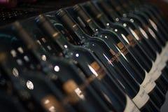 Bottiglie di vino delle colline di Durbanville Fotografie Stock