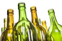 Bottiglie di vino di vetro vuote Immagini Stock Libere da Diritti
