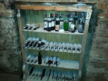 Bottiglie di vino millesimate Royalty Free Stock Photography
