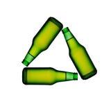 Bottiglie di vino verdi Fotografia Stock