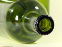 Bottiglie di vino vuote Fotografie Stock