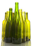 Bottiglie di vino vuote Immagine Stock