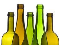 Bottiglie di vino vuote Fotografia Stock