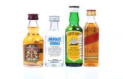 Bottiglie di whiskey Immagine Stock