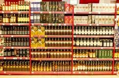Bottiglie di whisky fotografie stock libere da diritti
