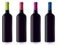 Bottiglie differenti di vino rosso royalty illustrazione gratis