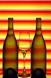 Bottiglie e vetro di vino Immagine Stock
