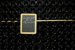 Bottiglie impilate Immagine Stock