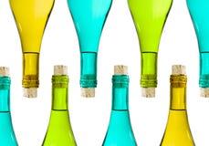 Bottiglie isolate Fotografia Stock Libera da Diritti