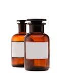 Bottiglie mediche con spazio per testo Immagini Stock