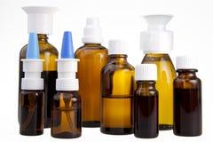 Bottiglie mediche del Brown Fotografia Stock Libera da Diritti