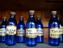 Bottiglie medicinali Fotografia Stock Libera da Diritti