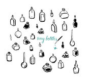 Bottiglie minuscole Immagine Stock