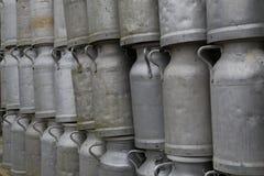 Bottiglie per il latte Fotografia Stock Libera da Diritti