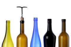 Bottiglie per vino Fotografia Stock