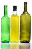 Bottiglie per vino ed olio fotografia stock libera da diritti