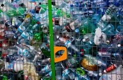 Bottiglie riciclate Fotografie Stock Libere da Diritti