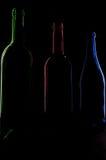 Bottiglie scure fotografie stock