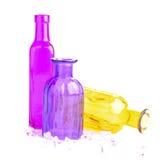 Bottiglie variopinte fotografie stock