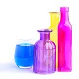Bottiglie variopinte fotografie stock libere da diritti