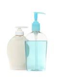 Bottiglie variopinte del sapone Handwashing dell'antibatterico fotografia stock libera da diritti