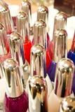 Bottiglie variopinte di trucco Fotografia Stock Libera da Diritti