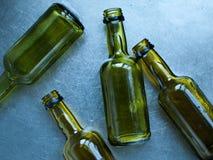Bottiglie verdi Fotografia Stock