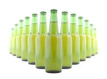 Bottiglie verdi di birra Immagine Stock Libera da Diritti