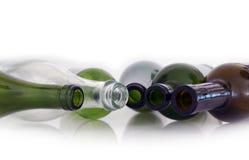 Bottiglie vuote Fotografie Stock