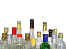 Bottiglie vuote Immagini Stock Libere da Diritti