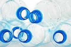 Bottiglie vuote della plastica del policarbonato   fotografia stock