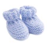 Bottini del bambino blu Fotografia Stock