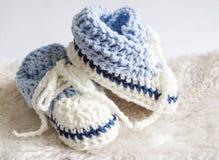 Bottini del bambino blu Fotografie Stock Libere da Diritti